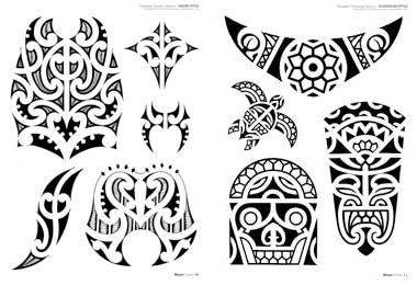 maori tattoo disegni polinesiani e delle isole del pacifico maori ...